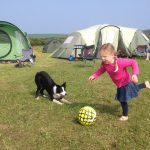 Family campsite games, Llety Farm camping, St Davids, Pembrokeshire